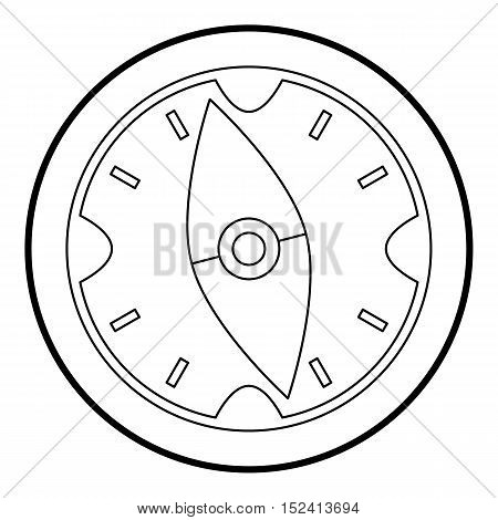 Compass icon. Outline illustration of compass vector icon for web design