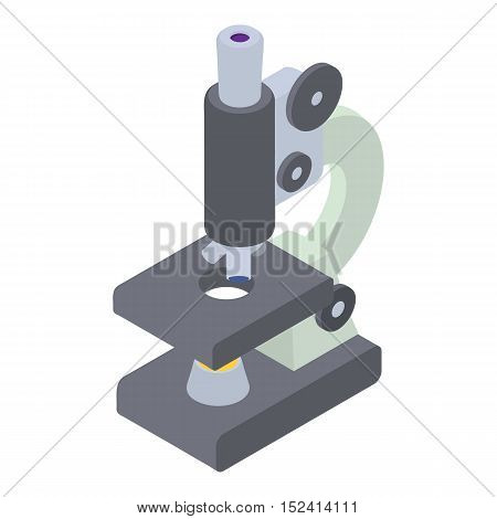 Microscope icon. Isometric 3d illustration of microscope vector icon for web