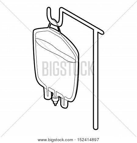 Package for blood transfusion icon. Outline illustration of package for blood transfusion vector icon for web
