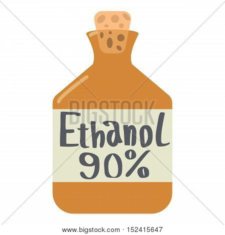 Ethanol in bottle icon. Flat illustration of ethanol in bottle vector icon for web