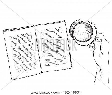 Illustration of cup of tea and book