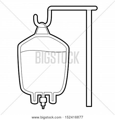 Package for blood transfusion icon. Outline illustration of package for blood transfusion vector icon for web design