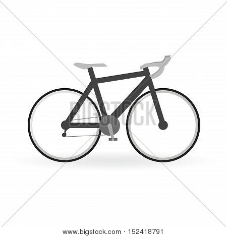 Bicycle Concept By Mountain Bike Is Black Color