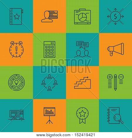 Set Of Project Management Icons On Personal Skills, Innovation And Collaboration Topics. Editable Ve