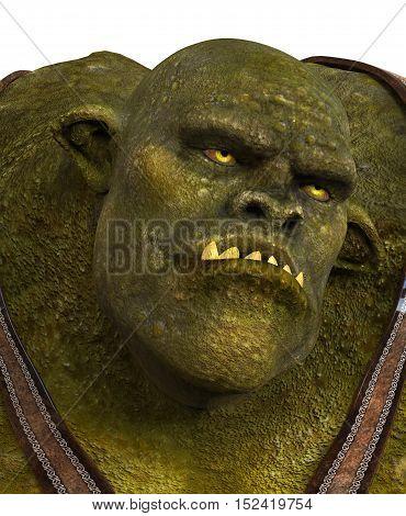 Ogre Monster 3D Illustration Isolated On White