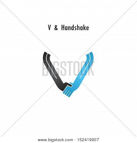 V- letter icon abstract logo design vector template.Business offerpartnership icon.Corporate business and industrial logotype symbol.Vector illustration