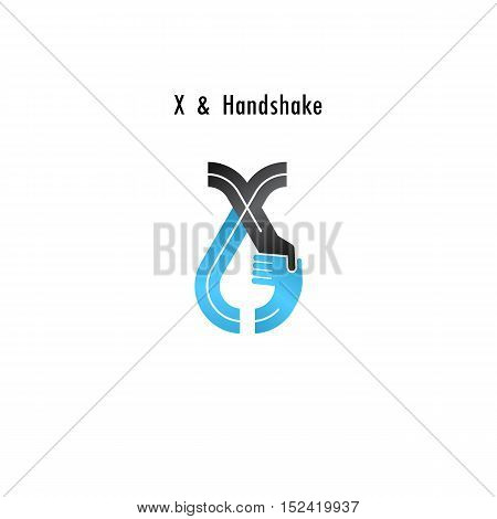 X- letter icon abstract logo design vector template.Business offerpartnership icon.Corporate business and industrial logotype symbol.Vector illustration