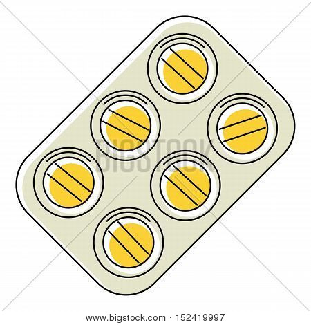 Pills icon. Flat illustration of pills vector icon for web isolated on white background