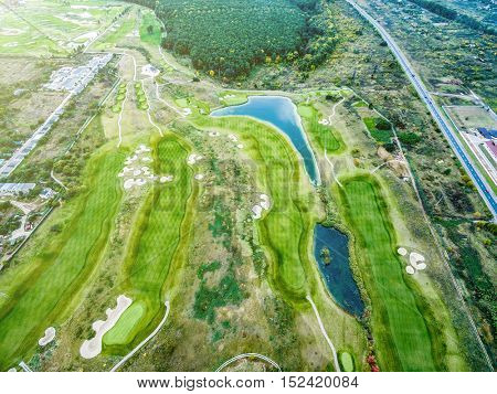 Kharkiv, Ukraine - September 24, 2016: Kharkiv golf club Superior Golf and Spa Resort