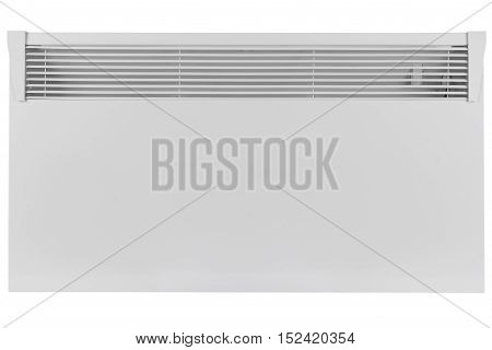New electric radiator on a white background