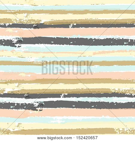 Vector seamless pattern with pastel colors paint stripes. Abstract background for fashion print, cover and card design