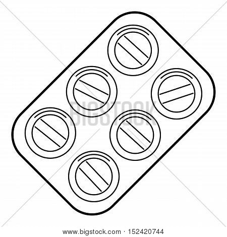 Pills icon. Outline illustration of pills vector icon for web isolated on white background