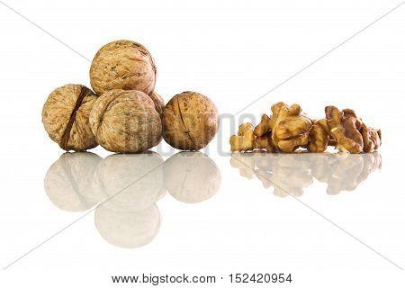 Walnut On White