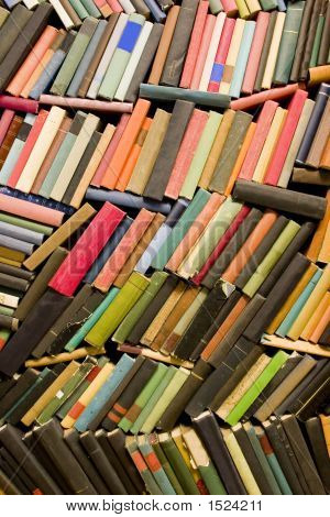 Wall Of Old Books