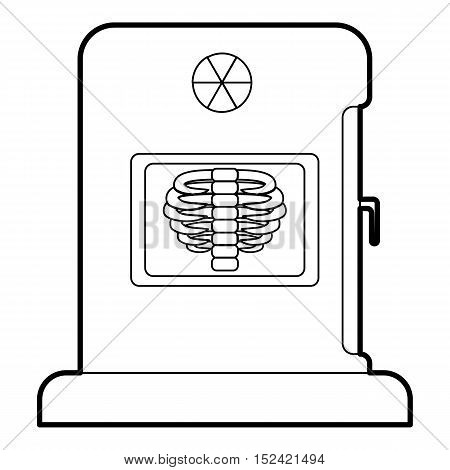 X-ray apparatus icon. Outline illustration of x-ray apparatus vector icon for web