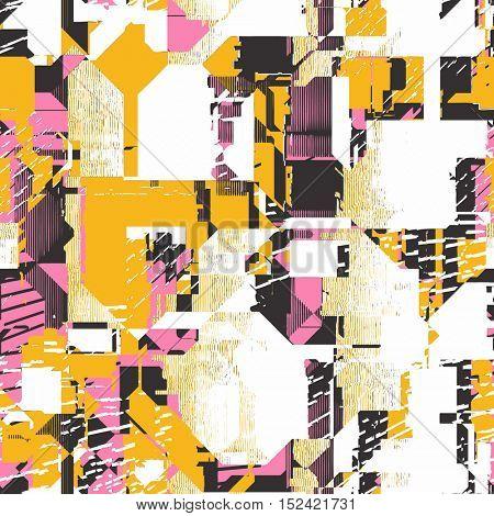 seamless psychedelic glitch pattern