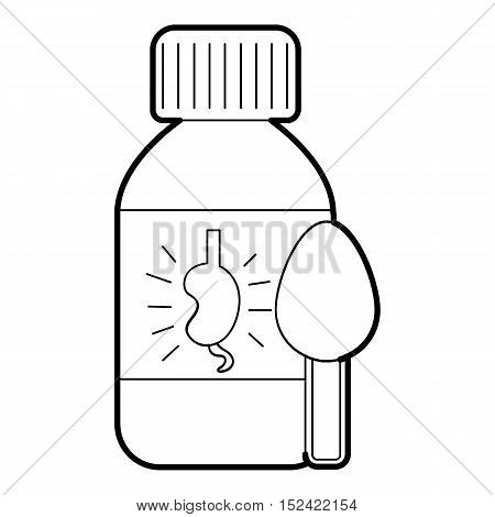 Medical syrup for kidney icon. Outline illustration of medical syrup for kidney vector icon for web