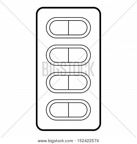 Packaging of tablets icon. Outline illustration of packaging of tablets vector icon for web