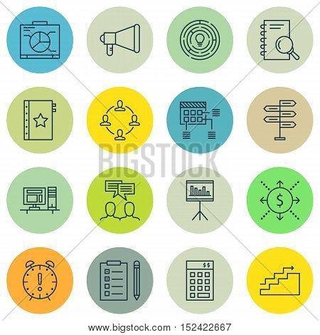 Set Of 16 Universal Editable Icons For  Topics. Includes Icons Such As Investment, Innovation, Analy