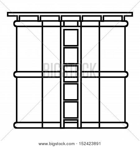 Tank liquid storage icon. Outline illustration of tank liquid storage vector icon for web