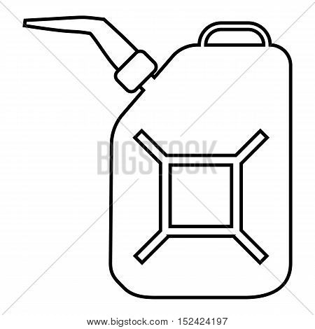 Canister for gasoline icon. Outline illustration of canister for gasoline vector icon for web