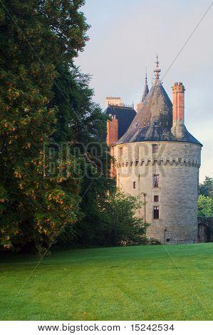 ancient castle, blue sky, Europe
