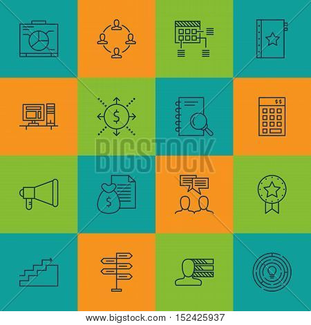 Set Of Project Management Icons On Warranty, Report And Innovation Topics. Editable Vector Illustrat
