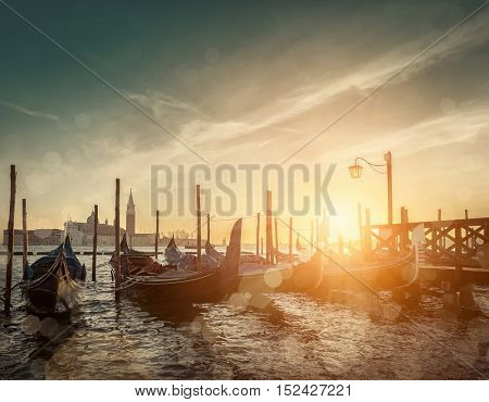 Beautiful Venice view under sunlight.