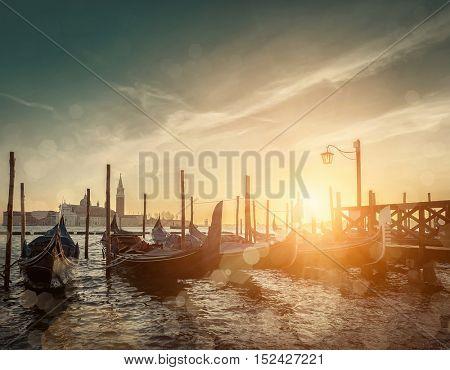 Beautiful Venice view under sunlight.