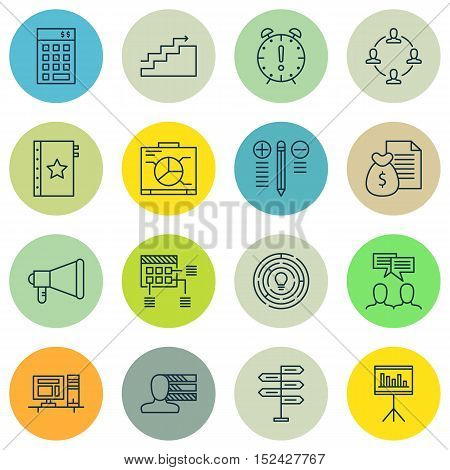 Set Of Project Management Icons On Schedule, Innovation And Opportunity Topics. Editable Vector Illu