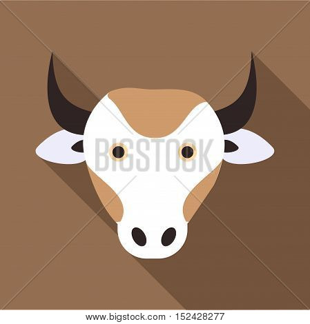 Cow icon. Flat illustration of cow vector icon for web