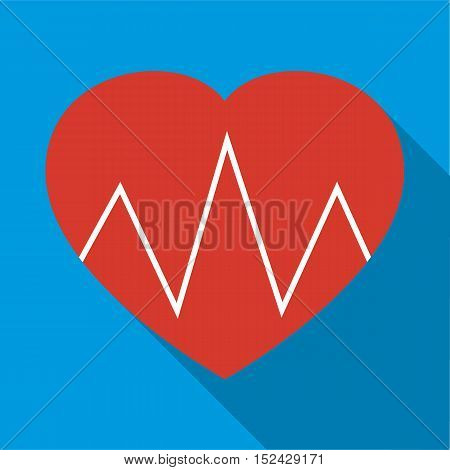 Cardiogram heart icon. icon. Flat illustration of cardiogram heart vector icon for web