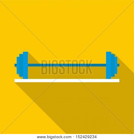 Rod on stand icon. Flat illustration of rod on stand vector icon for web