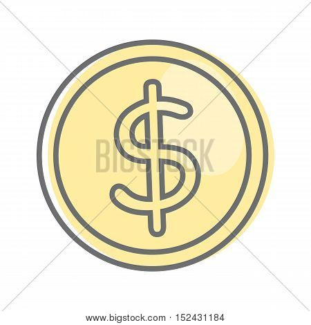 Money sign isolated. Dollar coin. Video marketing. Approaches, methods and measures to promote products and services based on video. Online video, internet technology and media social marketing