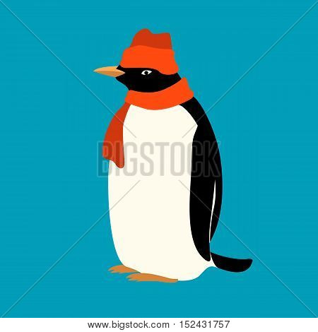 Penguin hat  vector illustration isolated Flat Style