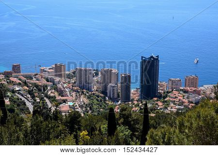 Aerial View Of Menton Town In French Riviera