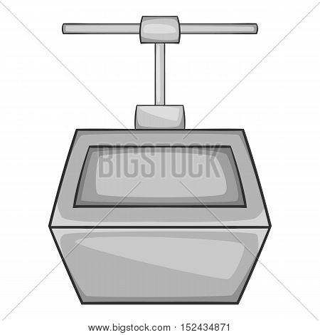 Funicular icon. Gray monochrome illustration of funicular vector icon for web