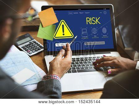 Risk Caution Danger Attention Concept