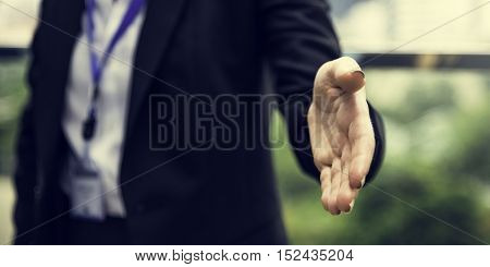 Handshake Businesswoman Colleagues Deal Concept