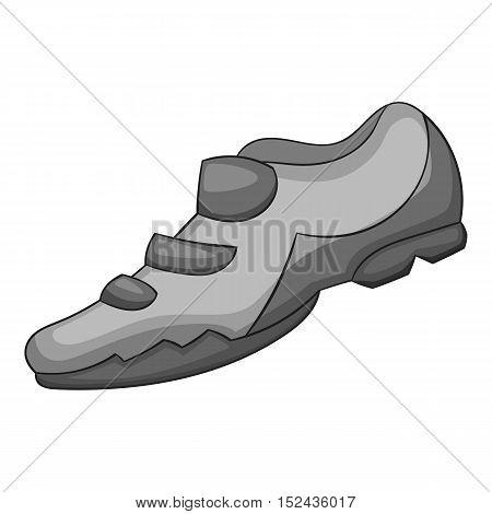 Sneakers for biker icon. Gray monochrome illustration of sneakers for biker vector icon for web