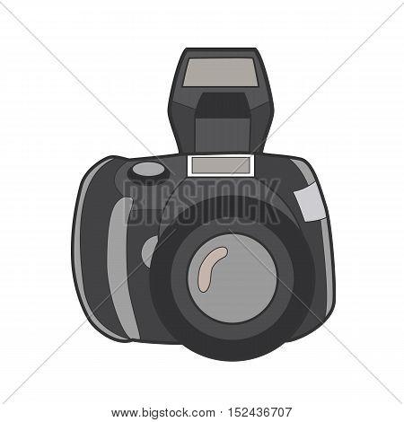 Symbol photo camera. Icon for web site. Line art colorfull vector illustration