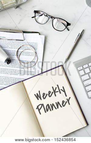 Weekly Planner Organizer Plan Concept