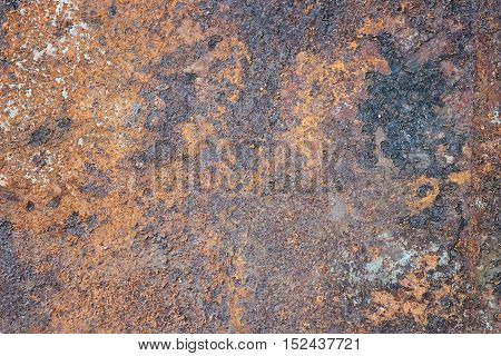 brown texture stained background rusty and shabby metal