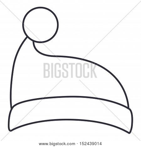 Santas hat icon. Merry christmas season celebration and decoration theme. Isolated design. Vector illustration