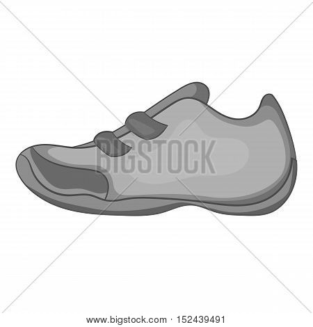 Sneakers for tennis icon. Gray monochrome illustration of sneakers for tennis vector icon for web