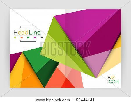 Vector triangle business brochure template