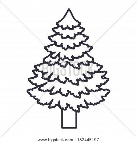 Pine tree icon. Merry christmas season celebration and decoration theme. Isolated design. Vector illustration