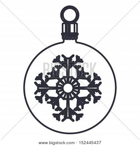 decorative sphere icon. Merry christmas season celebration and decoration theme. Isolated design. Vector illustration