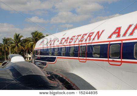 Old Propeller Passenger Airplane