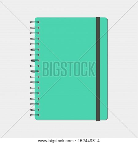 Spiral notepad, notebook. Closed notebook, vector illustration